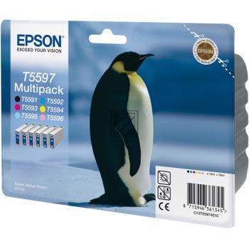 Epson Tintenpatrone gelb gelb light cyan magenta magenta light schwarz (C13T55974010, T5597)