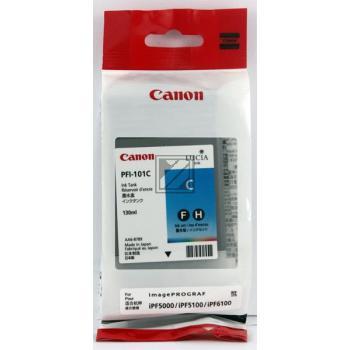Canon Tintenpatrone Pigmentierte Tinte cyan (0884B001 0884B001AA, PFI-101C)