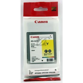 Canon Tintenpatrone Pigmentierte Tinte gelb (0886B001 0886B001AA, PFI-101Y)
