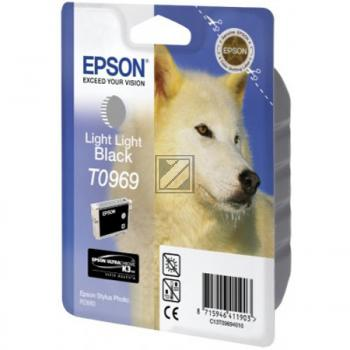 Epson Tintenpatrone Ultra Chrome K3 schwarz light, light (C13T09694010, T0969)
