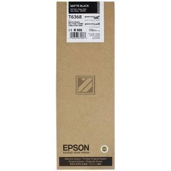Epson Tintenpatrone schwarz matt (C13T636800, T6368)