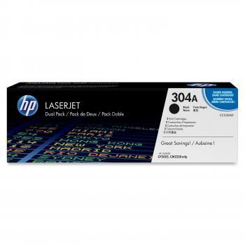 HP Toner-Kartusche 2x schwarz 2-er Pack (CC530AD, 304AD)