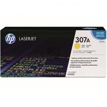 HP Toner-Kartusche gelb (CE742A, 307A)