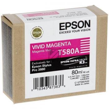 Epson Tintenpatrone Ultra Chrome K3 magenta (C13T580A00, T580A)
