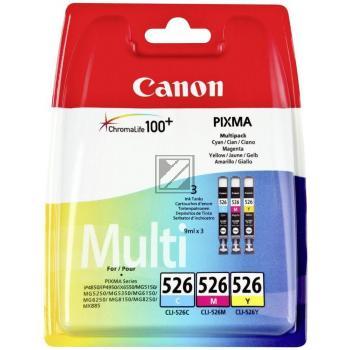 Canon Tintenpatrone gelb cyan magenta (4541B009, CLI-526C CLI-526M CLI-526Y)