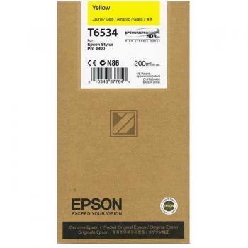Epson Tintenpatrone Ultra Chrome HDR gelb (C13T653400, T6534)
