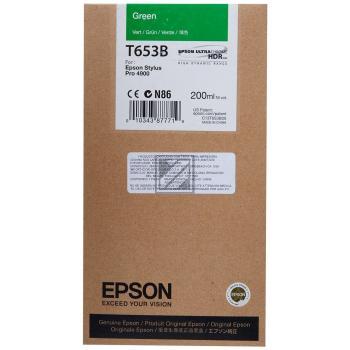 Epson Tintenpatrone Ultra Chrome Hdr grün (C13T653B00, T653B)
