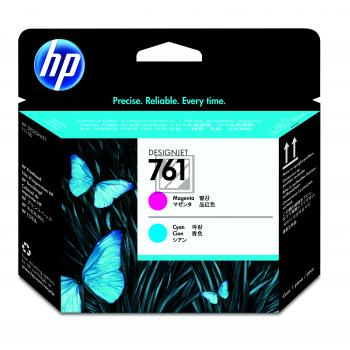 HP Tintendruckkopf magenta/cyan (CH646A, 761)