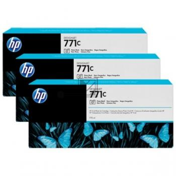 HP Tintenpatrone photo schwarz 3-er Pack (CR256A, 3x 771C)