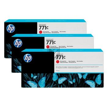 HP Tintenpatrone chromatic rot 3-er Pack (CR251A, 771C)