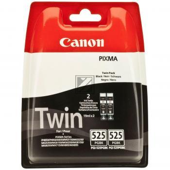 Canon Tintenpatrone 2x schwarz 2-er Pack (4529B006, 2x PGI-525PGBK)