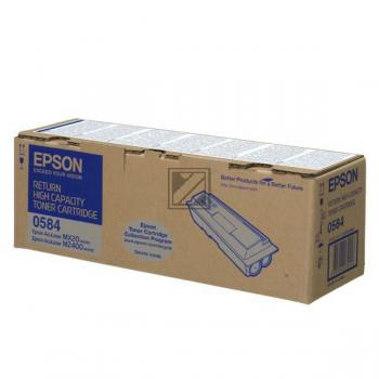 Epson Toner-Kit Return schwarz HC (C13S050584, 0584)