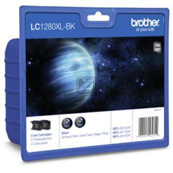 Brother Tintenpatrone Blister schwarz 2-Pack HC (LC-1280XLBKBP2DR)