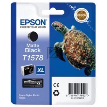 Epson Tintenpatrone schwarz matt (C13T15784010, T1578)