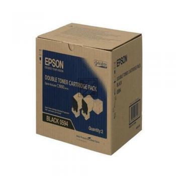 Epson Toner-Kit schwarz 2-er Pack (C13S050594, 0594)