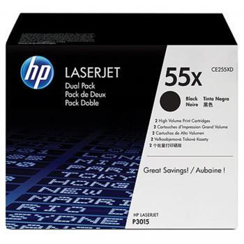 HP Toner-Kartusche 2 x schwarz HC (CE255XD, 55XD)