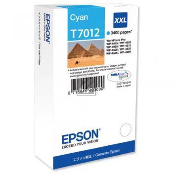 Epson Tintenpatrone cyan HC plus (C13T70124010, T7012)