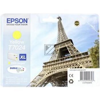 Epson Tintenpatrone gelb HC (C13T70244010, T7024)