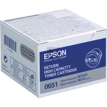 Epson Toner-Kartusche Return schwarz HC (C13S050651, 0651)
