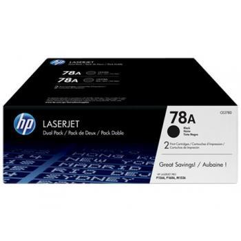 HP Toner-Kartusche 2x schwarz 2-er Pack (CE278AD, 78AD)
