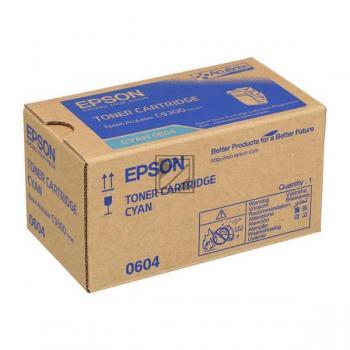 Epson Toner-Kit cyan (C13S050604, 0604)