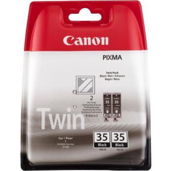 Canon Tintenpatrone 2x schwarz 2-er Pack (1509B012, 2x PGI-35/TWIN)