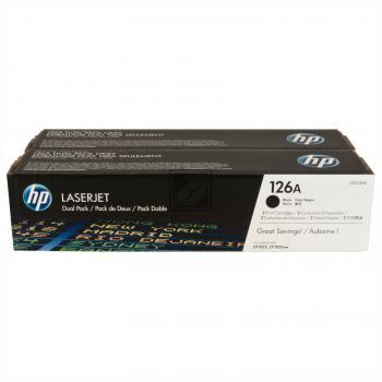 HP Toner-Kartusche 2 x schwarz 2-Pack (CE310AD, 126A)