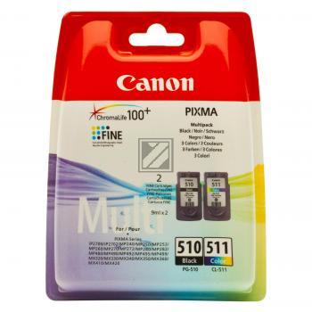Canon Tintenpatrone cyan/gelb/magenta schwarz (2970B010, CL-511 PG-510)