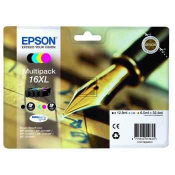 Epson Tintenpatrone gelb cyan magenta schwarz HC (C13T16364012, T1636)