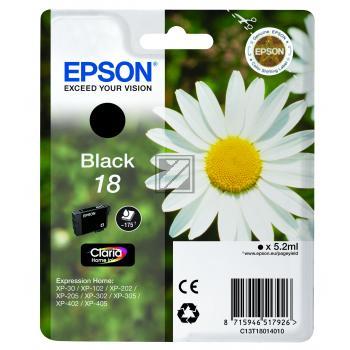 Epson Tintenpatrone schwarz (C13T18014012, T1801)