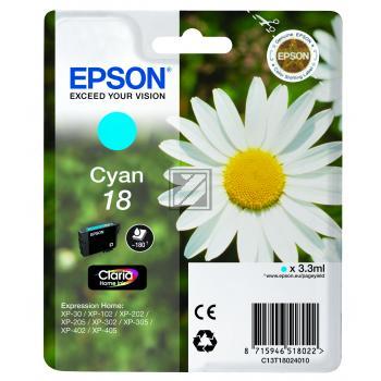 Epson Tintenpatrone cyan (C13T18024012, T1802)