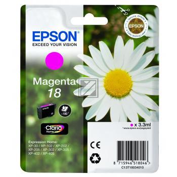Epson Tintenpatrone magenta (C13T18034012, T1803)