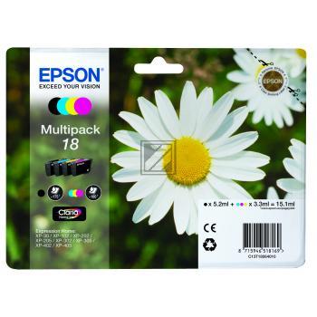 Epson Tintenpatrone gelb cyan magenta schwarz (C13T18064012, T1806)