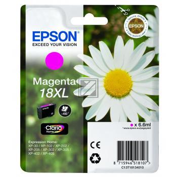 Epson Tintenpatrone magenta HC (C13T18134012, T1813)