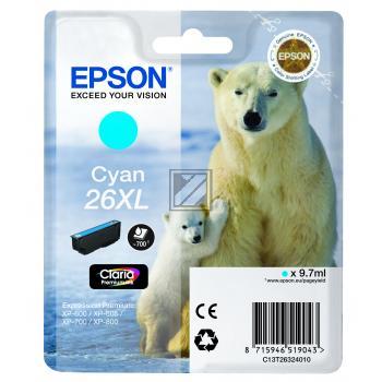 Epson Tintenpatrone cyan HC (C13T26324012, T2632)