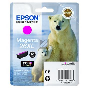 Epson Tintenpatrone magenta HC (C13T26334012, T2633)
