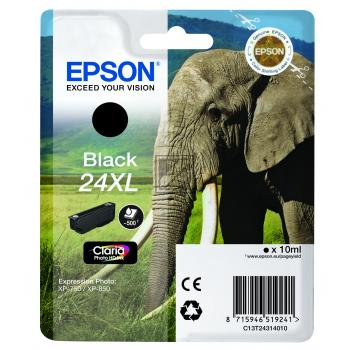 Epson Tintenpatrone schwarz HC (C13T24314012, T2431)