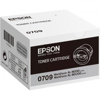 Epson Toner-Kartusche schwarz (C13S050709, 0709)