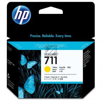 HP Tintenpatrone 3 x gelb (CZ136A, 3 x 711)