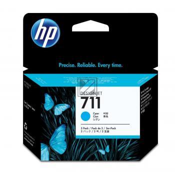 HP Tintenpatrone 3 x cyan (CZ134A, 3 x 711)
