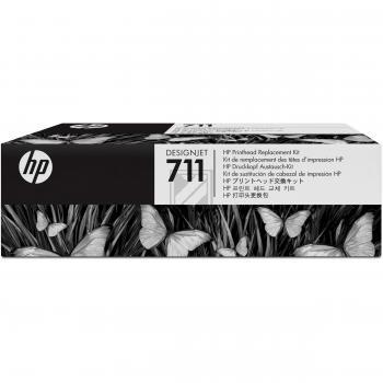 HP Tintendruckkopf gelb cyan magenta schwarz (C1Q10A, 711)