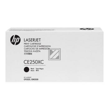 Toner f. HP Color LaserJet CP3525 [CE250YC|PrintPlus] HC Nr.504X black