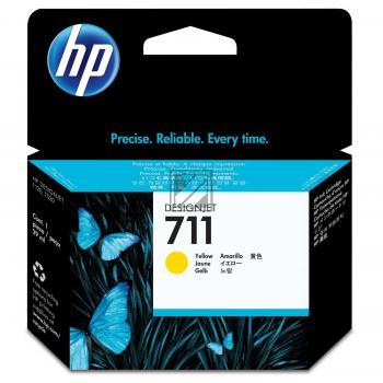 HP Tintenpatrone gelb (CZ132A, 711)