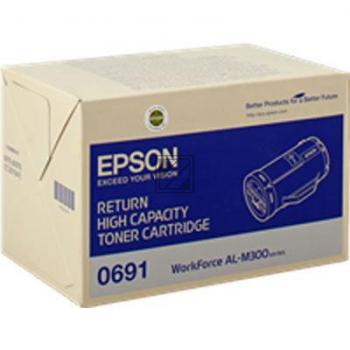 Epson Toner-Kit Return schwarz (C13S050691, 0691)