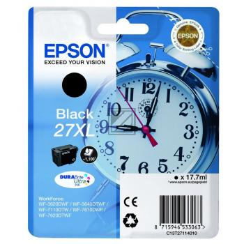 Epson Tintenpatrone schwarz HC (C13T27114012, T2711)