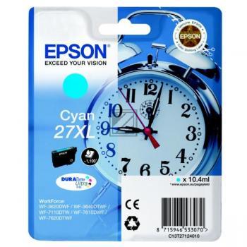 Epson Tintenpatrone cyan HC (C13T27124012, T2712)