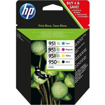HP Tintenpatrone gelb cyan magenta schwarz HC (C2P43AE, 950XL 3x 951XL)