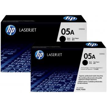HP Toner-Kartusche 2x schwarz 2-er Pack (CE505D, 05D)
