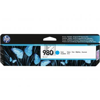 HP Tintenpatrone cyan (D8J07A, 980)
