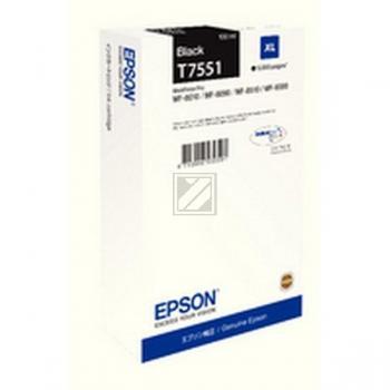 Epson Tintenpatrone schwarz HC (C13T755140, T7551)